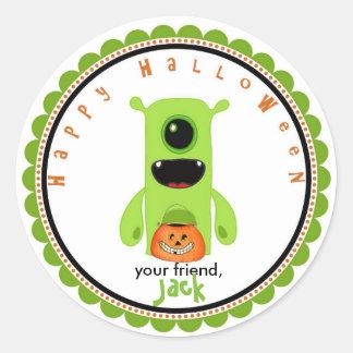 Halloween cute monster goodie bag favor stickers