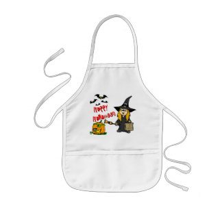 Halloween Cute WItch Kids' Apron