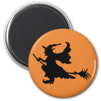 Halloween Cute Witch round magnet