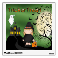 Halloween Cute Witch Square Wall Decal