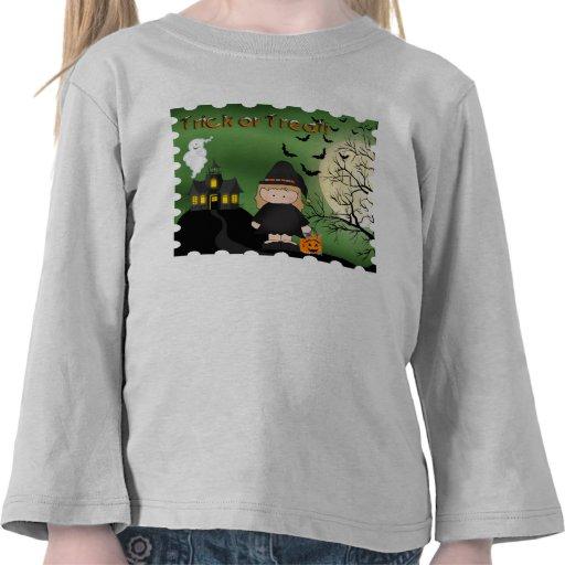 Halloween Cute Witch Toddler Long Sleeve T-Shirt