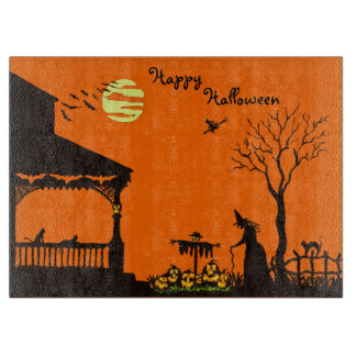 Halloween cutting board,witches,scarecrow,skull cutting board