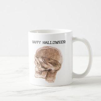 Halloween da Vinci Skull Sketch Coffee Mug