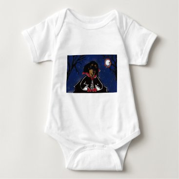 Halloween Themed Halloween Dachshund Baby Bodysuit