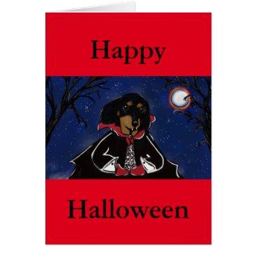Halloween Themed Halloween Dachshund Card