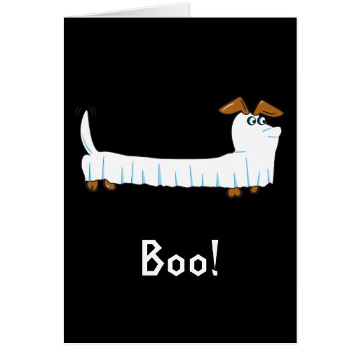 Halloween Dachshund Greeting Card