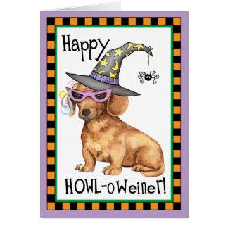 Halloween Dachshund Greeting Cards