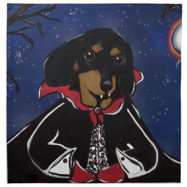 Halloween Themed Halloween Dachshund Napkin