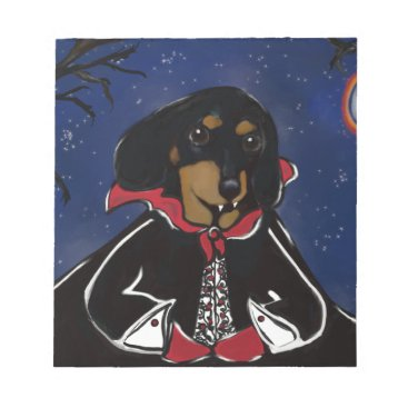Halloween Themed Halloween Dachshund Notepad
