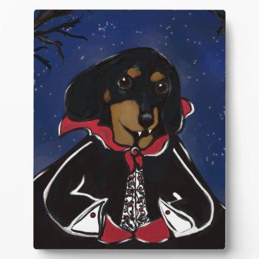 Halloween Themed Halloween Dachshund Plaque