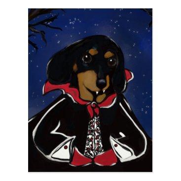 Halloween Themed Halloween Dachshund Postcard