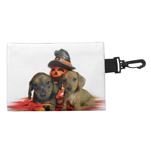 Halloween Dachshund Puppies Accessory Bags