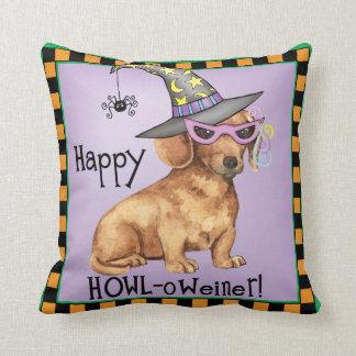 Halloween Dachshund Throw Pillow