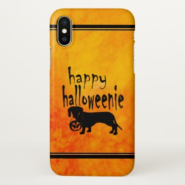 Halloween Themed Halloween Dachshund Trick or Treat iPhone X Case