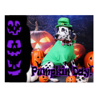 Halloween - Dalmatian - Dash Postcard
