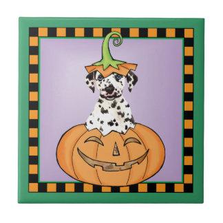 Halloween Dalmatian Tile