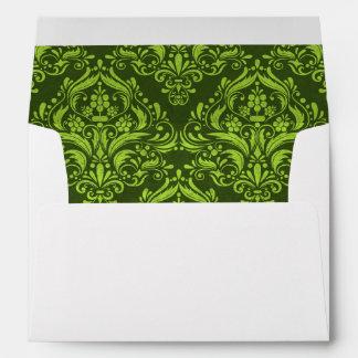 Halloween damask colors envelope