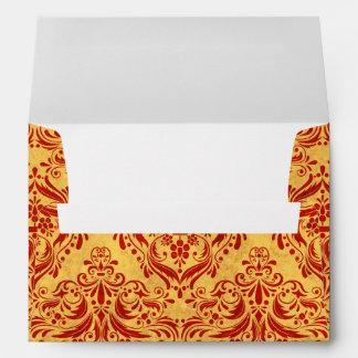 Halloween damask papers envelope
