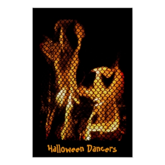 Halloween Dancers Poster