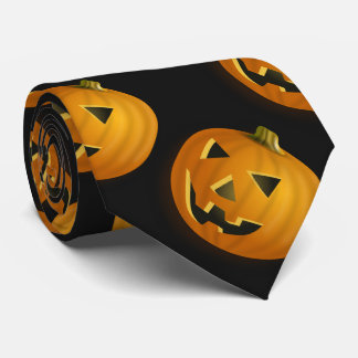Halloween dark pumpkin tie