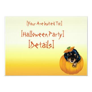 Halloween Dashund Puppy-Boo invitation_ 5x7 Paper Invitation Card