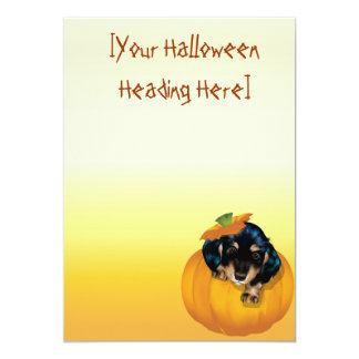 Halloween Dashund Puppy-Boo invitation_525x525,... 5x7 Paper Invitation Card