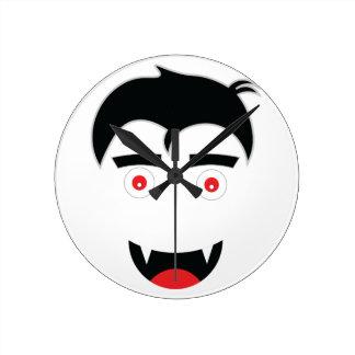 Halloween day Emar Design. Round Clock