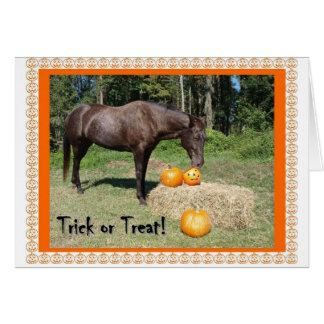 Halloween de caballo tarjeta de felicitación