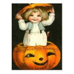 Halloween de entretenimiento postales