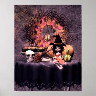 Halloween de la pequeña bruja póster