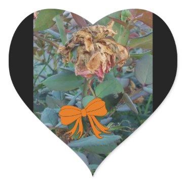 Halloween Themed Halloween Dead Flower Photo 3 Heart Sticker