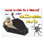 "Halloween- Deadful Party 5"" X 7"" Invitation Card"