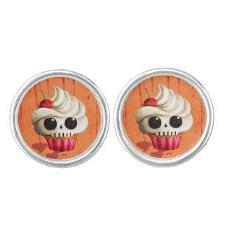 Halloween Deadly Skull Cupcake Cufflinks