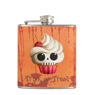 Halloween Deadly Skull Cupcake Flask