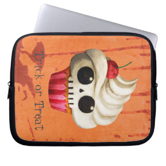 Halloween Deadly Skull Cupcake Laptop Sleeve