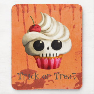 Halloween Deadly Skull Cupcake Mouse Pad