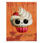 Halloween Deadly Skull Cupcake Posters