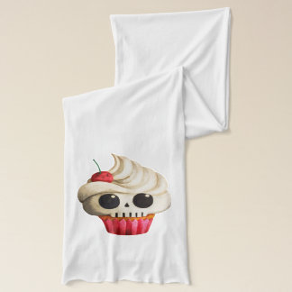 Halloween Deadly Skull Cupcake Scarf