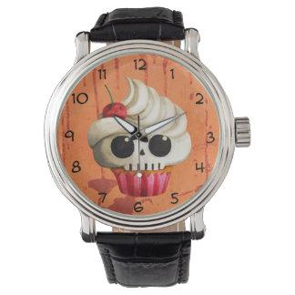 Halloween Deadly Skull Cupcake Wristwatch