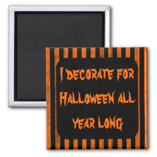 Halloween decorating fun 2 inch square magnet