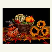 Halloween Decoration postcards