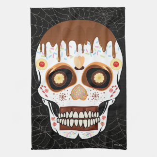 Halloween Decoration Sugar Skull Kitchen Towel