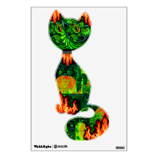 Halloween Decorations, fall wall decals! Kitty Wall Decal