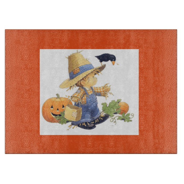 Lovely Kitchen Glass Cutting Boards Decorative #10: Halloween Decorative Glass Cutting Board/scarecrow Cutting Board, Kitchen  Ideas