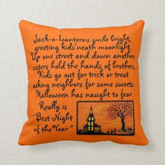 Halloween ,decorator,pillow,devil,ghost,bats,poem throw pillow