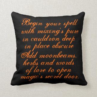 Halloween,decorator,pillow,original,poetry,text Throw Pillow