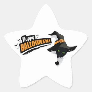 Halloween design star sticker