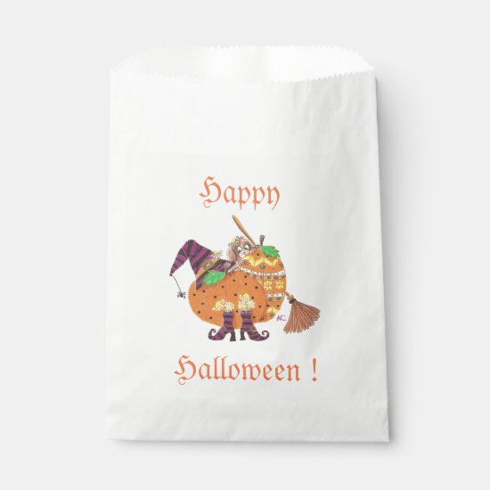 Halloween design white favor bag