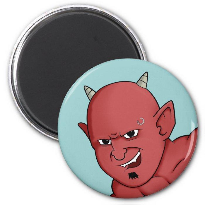Halloween devil head 2 inch round magnet