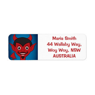 Halloween Devil Label
